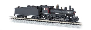 Bachmann N 4-6-0 W/DCC, Black W/Red Windows*