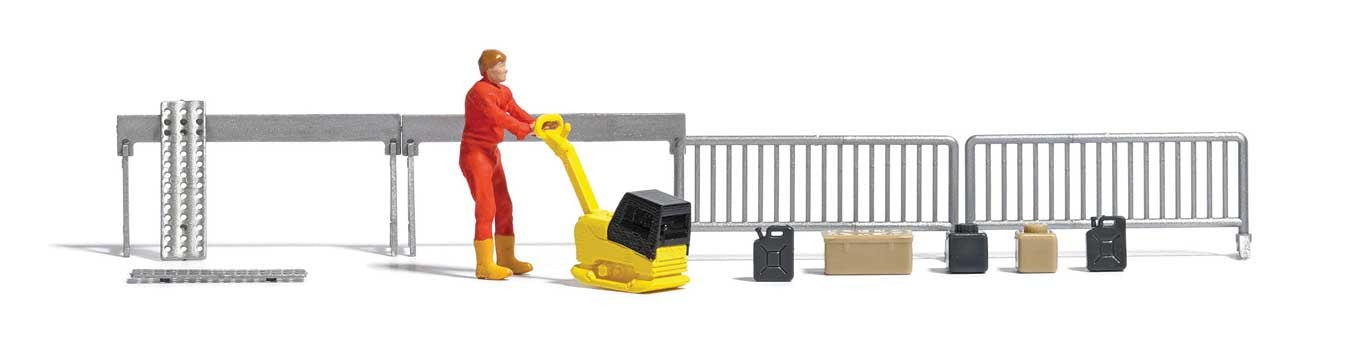Busch HO Compactor with Figure and Accessories