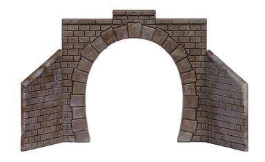 Busch Cut Stone Single-Track Tunnel Portal w/Wing Walls