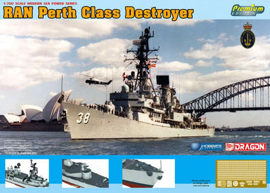 Dragon 7146 1/700 RAN HMAS Perth D-38 Class Destroyer Plastic Model Kit