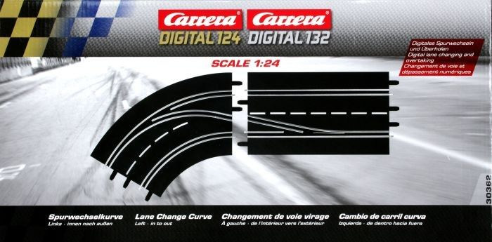 Carrera Digital 132/124 Lane Change Curve Left - In To Out