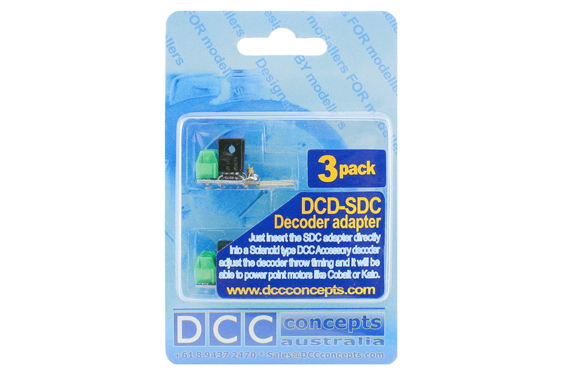 DCC Concepts DCC Decoder Converter 3 Wire To 2 Wire (3 Pack)