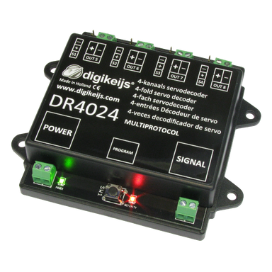 Digikeijs Dr4024 4 Channel Servo Decoder With 4 Switching Outputs