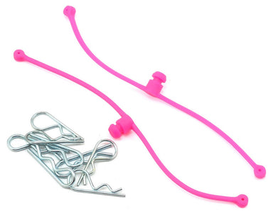 Dubro 2251 Body Klip Retainers, Pink 2