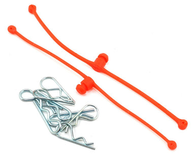 Dubro 2252 Body Klip Retainers, Orange 2