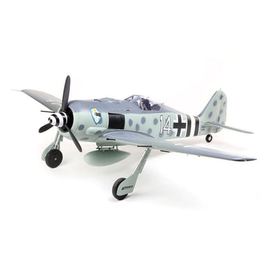 E-Flite EFL01350 Focke-Wulf Fw 190A RC Plane with Smart Technology, BNF Basic