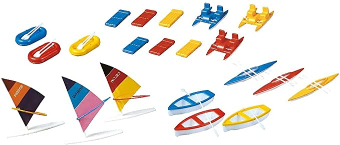 Faller Gmbh HO Boats and Windsurfing Boards - 21 Pieces