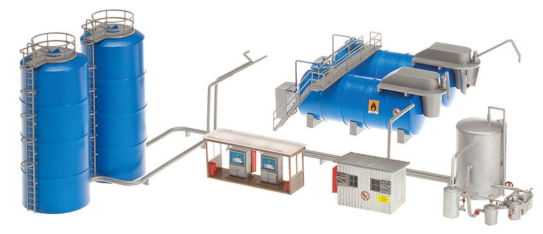 Faller Gmbh HO Aral Small Tank Farm - Kit