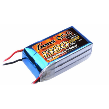 Gens Ace 1300mAh 3S 11.1V 25C Soft Case Lipo Battery (EC3 Plug)