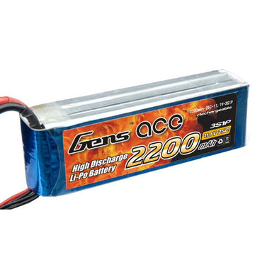 GENS ACE 2200MAH 3S 11.1V 25C LIPO BATTERY EC3