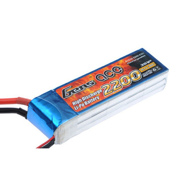 Gens Ace 2200mAh 3S 11.1V 30C Soft Case Lipo Battery (EC3 Plug)