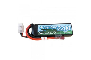 Gens Ace 2200mah 11.1V 3S 50C Soft Case Lipo Battery Deans