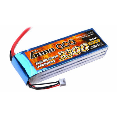 Gens Ace 3300Mah 3S 11.1V 25C Soft Case Battery (Deans Plug)