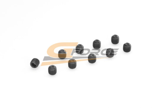 Gforce Set Screw M4X8. Steel 10Pcs