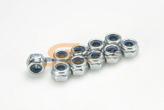 Gforce Nylstop Nut. M6. Galvanized Steel 10Pcs