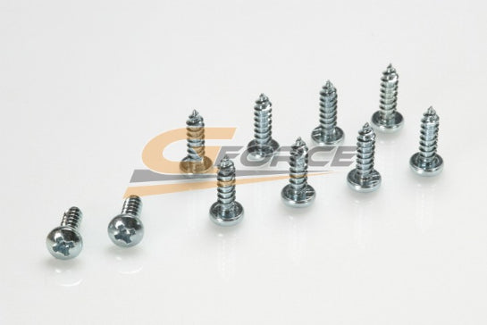 Gforce Self-Tapping Pan Head Screw 3.5X13. Galvanized Steel 10Pcs