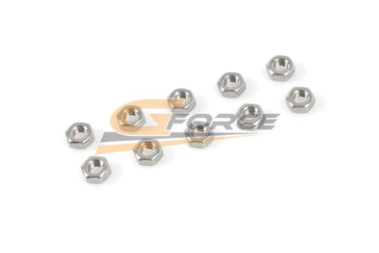 Gforce Nut. M2.5. Inox 10Pcs
