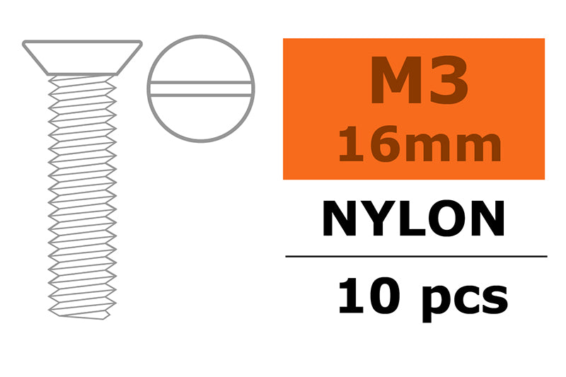 Gforce Countersunk Screw M3X16. Nylon 5Pcs