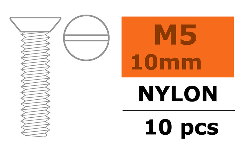Gforce Countersunk Screw M5X10. Nylon 5Pcs