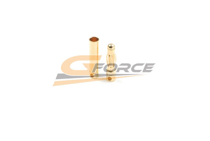Gforce 4.0mm Gold Connector Long. Male Plus Female 4Pairs