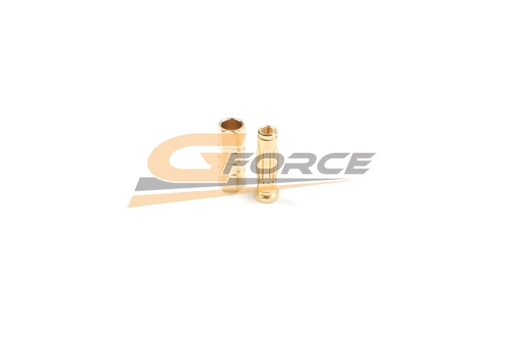 Gforce 4.0mm Gold Connector Car. Male Plus Female 4Pairs