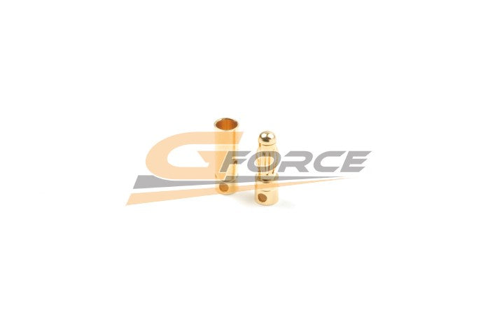 Gforce 4.0mm Gold Connector Short. Male Plus Female 4Pairs