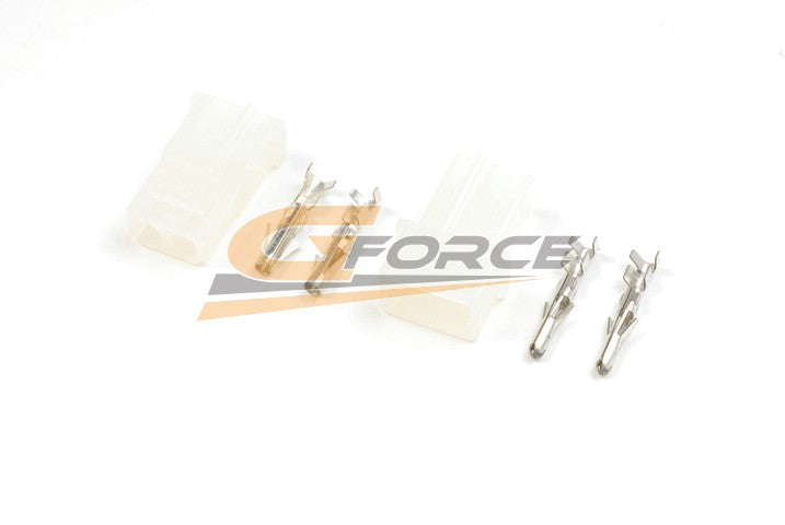 Gforce Amp Connector With Gold Plated Pins. Male Plus Female 2Pairs