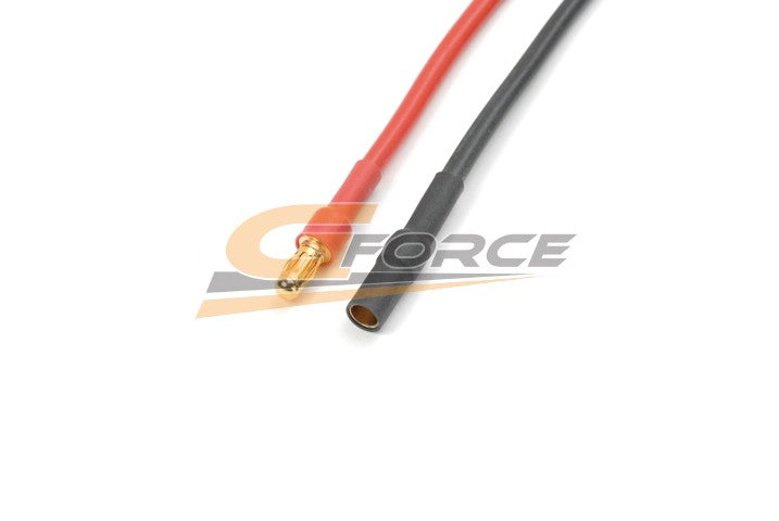 Gforce 3.5mm Gold Connector. Male Plus Female. Silicon Wire 14Awg. 10Cm 1Pc