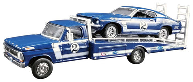 Acme 1/64 Dan Gurney No.2 1969 Boss 302 Trans Am Mustang with Ford F-350 Ramp Truck
