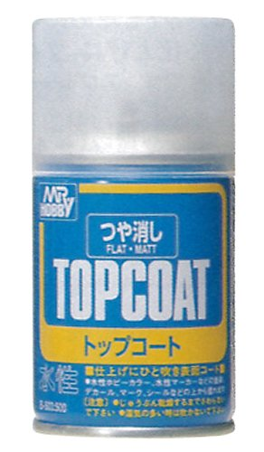 Mr Topcoat Flat Clear Spray