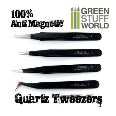 GSW Anti-Magnetic Quarts Tweezers Set (4)