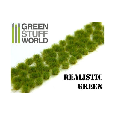 GSW Grass Tufts 6mm Self-Adhesive Realistic Green