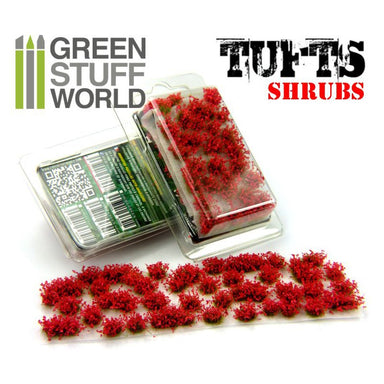 Gsw Shrubs Tufts 6mm Self-Adhesive Red Flowers
