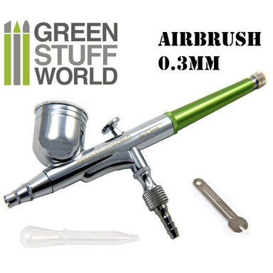 GSW Dual Action Airbrush 0.3mm Green