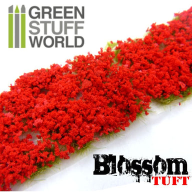 Gsw Blossom Tufts 6mm Self-Adhesive Red Flowers