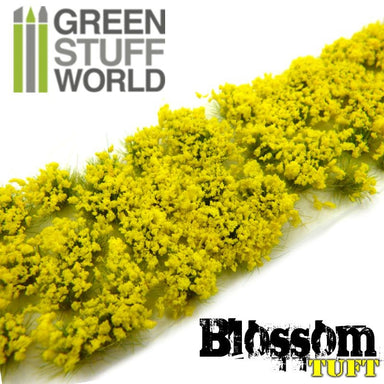 Gsw Blossom Tufts 6mm Self-Adhesive Yellow Flowers