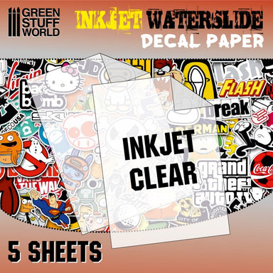 GSW Waterslide Decal Paper Inkjet Transparent/Clear 5 Sheets