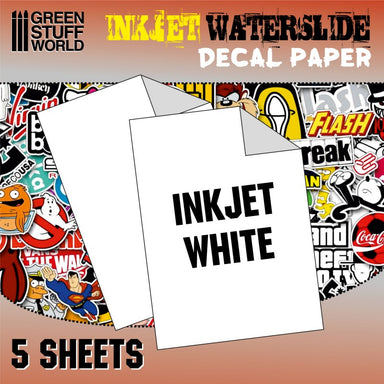 GSW Waterslide Decal Paper Inkjet White 5 Sheets