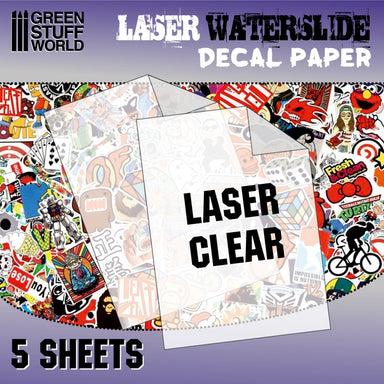 GSW Waterslide Decal Paper Laser Transparent/Clear 5 Sheets