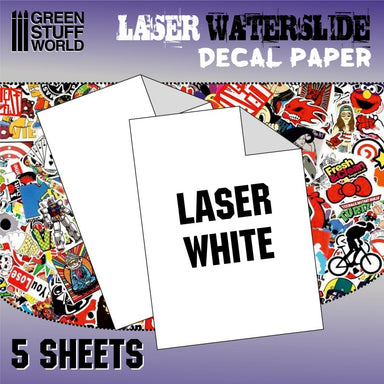 GSW Waterslide Decal Paper Laser White 5 Sheets