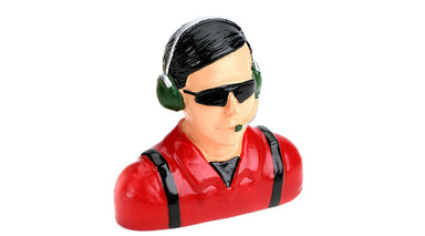 Hangar 9 1/4 Civilian Pilot W/Headset Red