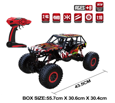 HB 1/10 4wd Rock Crawler Red RTR
