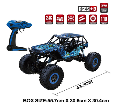 HB 1/10 4wd Rock Crawler Blue RTR