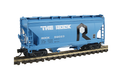 Intermountain Railway Company N ACF 2-Bay Center-Flow Covered Hopper 512011 Rock Island (blue, black, white)