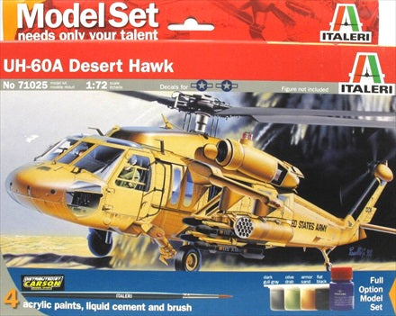 Italeri 1/72 Uh 60 Desert Hawk Plastic Model Kit Aus Decals