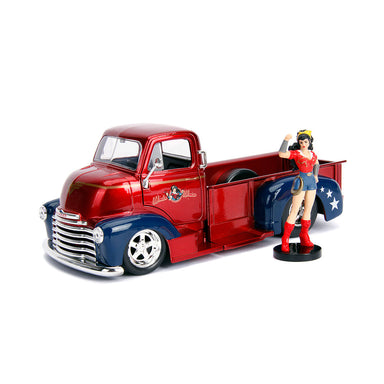 Jada 1/24 Wonder Woman With 1952 Chevy Coe Pickup Bombshells Movie
