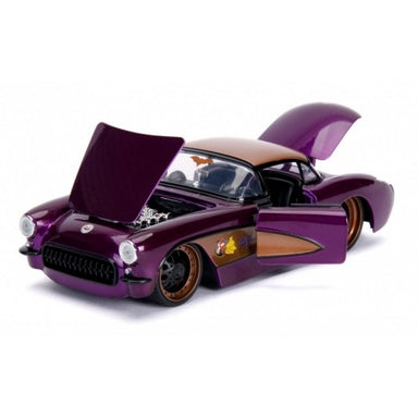 Jada 1/24 Batgirl With 1957 Chevy Corvette Bombshells Movie