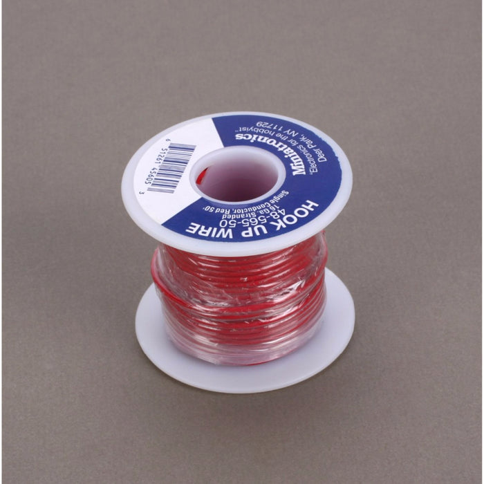 Miniatronics 100 Stranded Wire 22 Gauge, Red