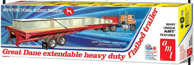 AMT 1/25 Great Dane Extendable Heavy Duty Flatbed Trailer