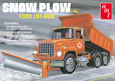 AMT 1/25 Ford LNT-8000 Truck with Snow Plow